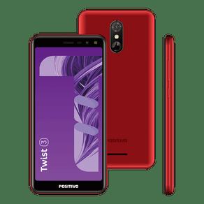 """Smartphone Positivo Twist 3 S513 32GB Dual Chip 5,5"""" - Vermelho"""