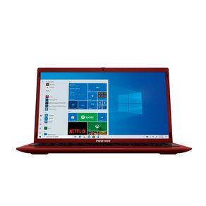 Notebook Positivo Motion Q464C Intel® Atom® Quad-Core™ Windows 10 Home – Vermelho